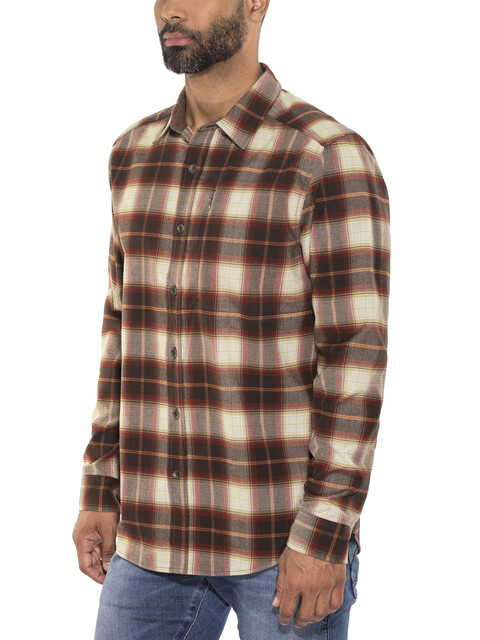 Royal Robbins Merinolux Flannel LS Shirt Men Red Rock